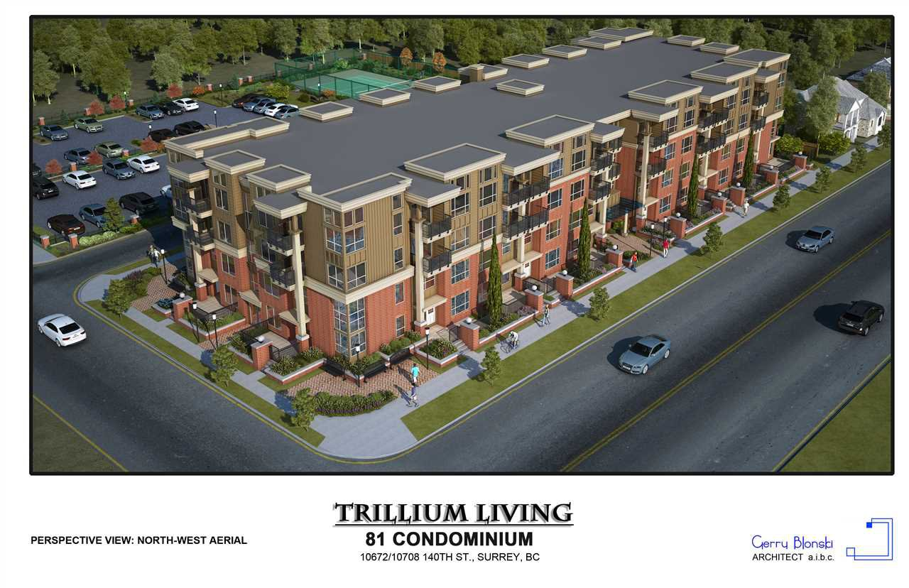 "Main Photo: 415 10688 140 Street in Surrey: Whalley Condo for sale in ""TRILLIUM LIVING"" (North Surrey)  : MLS®# R2401436"