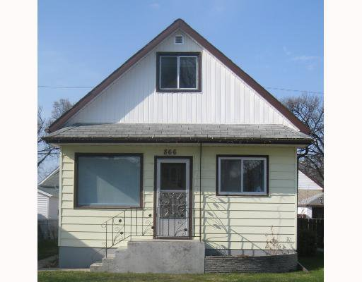 Main Photo: 866 ALFRED Avenue in WINNIPEG: North End Residential for sale (North West Winnipeg)  : MLS®# 2808279