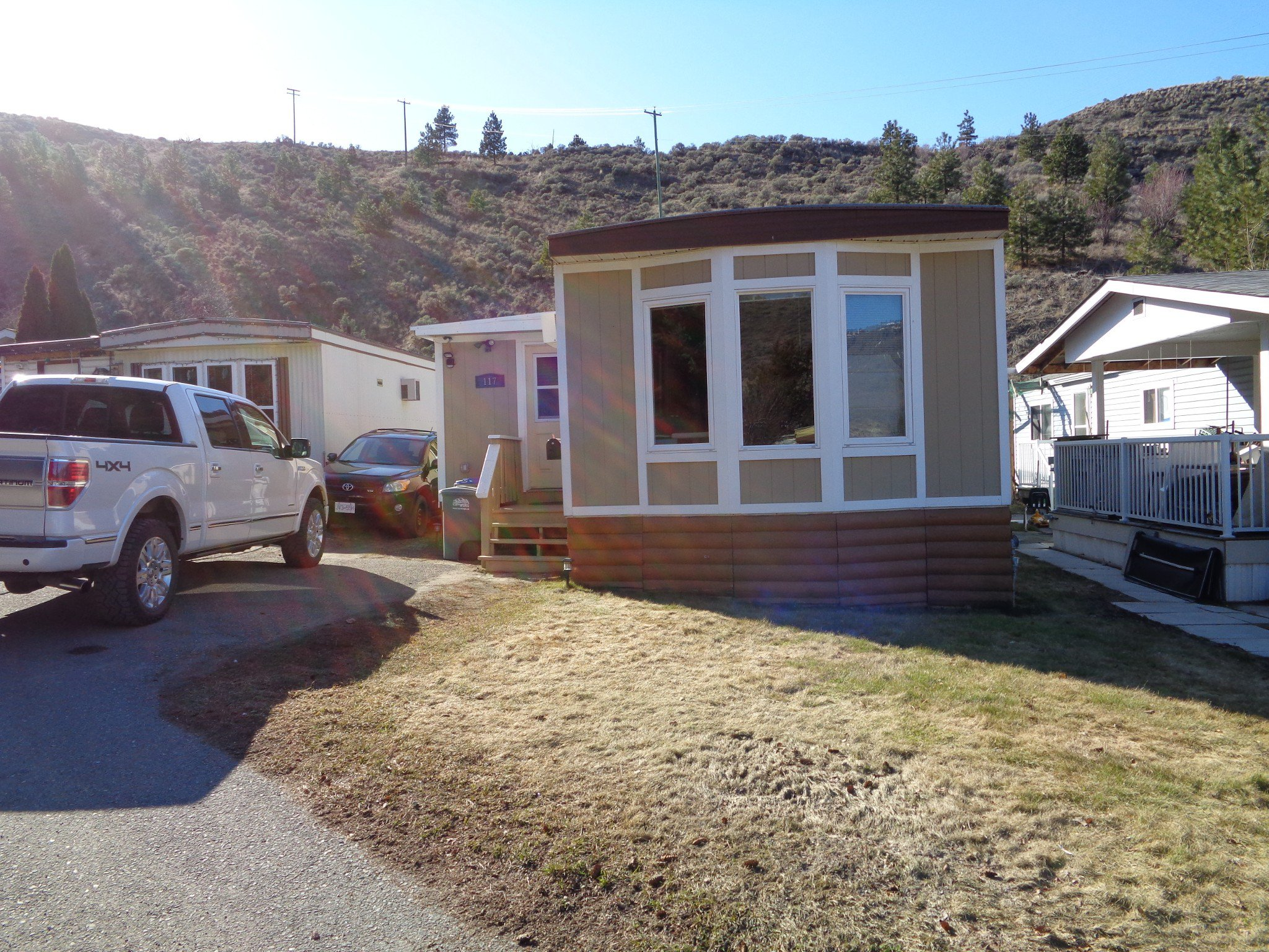 Main Photo: 117-1175 Rose Hill Road in Kamloops: Valleyview Manufactured Home for sale : MLS®# 155642
