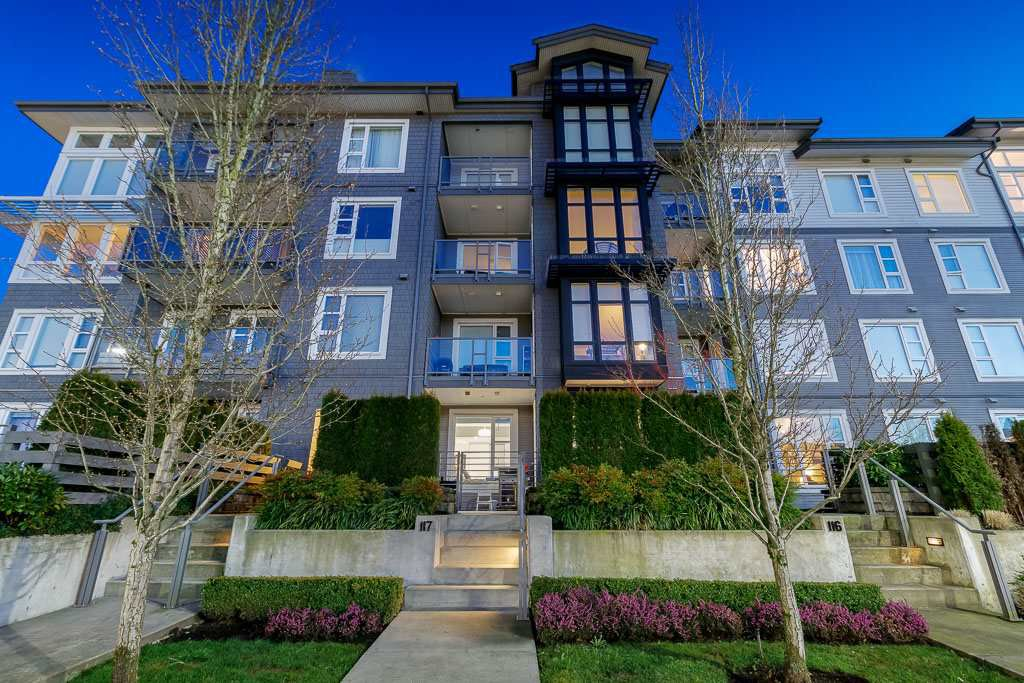 "Main Photo: 117 550 SEABORNE Place in Port Coquitlam: Riverwood Condo for sale in ""FREMONT GREEN"" : MLS®# R2437418"
