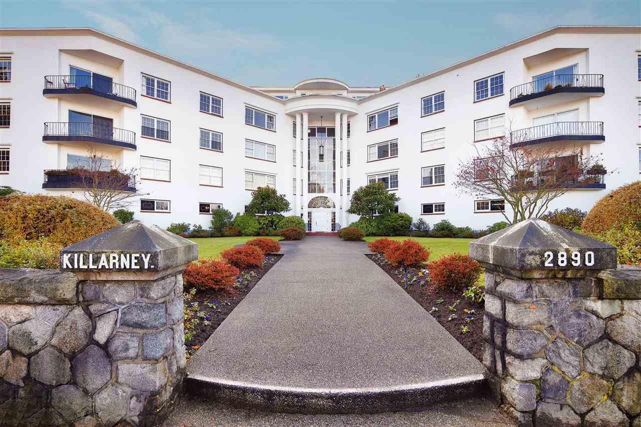 "Main Photo: 303 2890 POINT GREY Road in Vancouver: Kitsilano Condo for sale in ""Killarney Manor"" (Vancouver West)  : MLS®# R2420163"