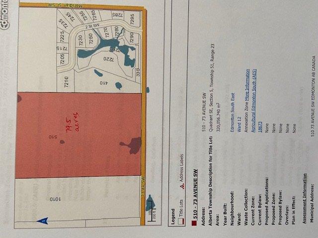 Main Photo: 510 73 Avenue in Edmonton: Zone 53 Vacant Lot for sale : MLS®# E4198991