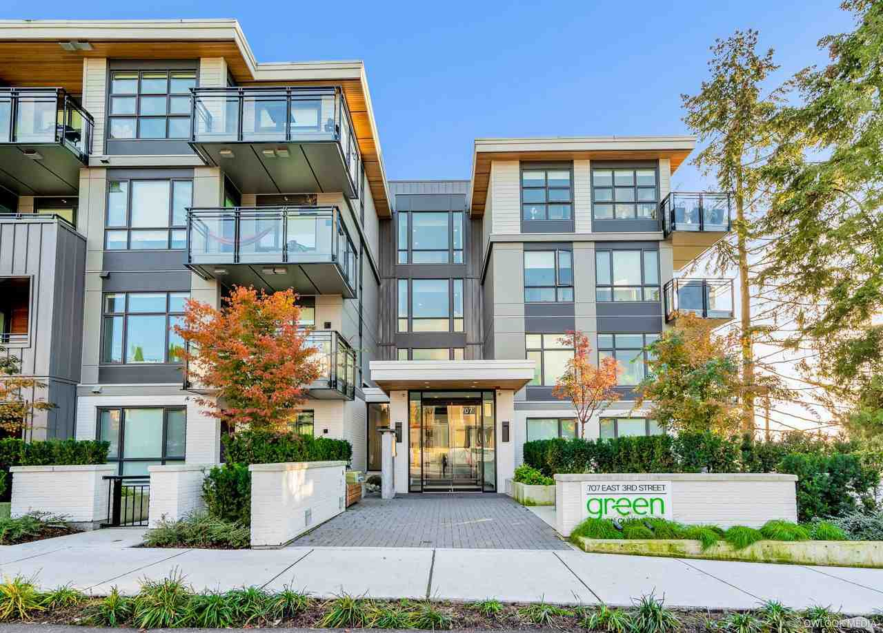 "Main Photo: 102 707 E 3RD Street in North Vancouver: Queensbury Condo for sale in ""GREEN ON QUEENSBURY"" : MLS®# R2515264"
