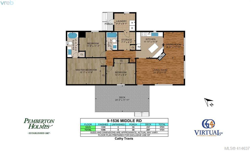 Photo 33: Photos: 9 1536 Middle Road in VICTORIA: VR Glentana Manu Double-Wide for sale (View Royal)  : MLS®# 414637