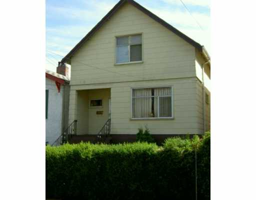 Main Photo: 1138 E 14TH AV in Vancouver: Mount Pleasant VE House for sale (Vancouver East)  : MLS®# V554415