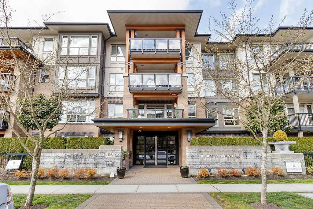 "Main Photo: 412 1150 KENSAL Place in Coquitlam: New Horizons Condo for sale in ""THOMAS HOUSE"" : MLS®# R2449508"