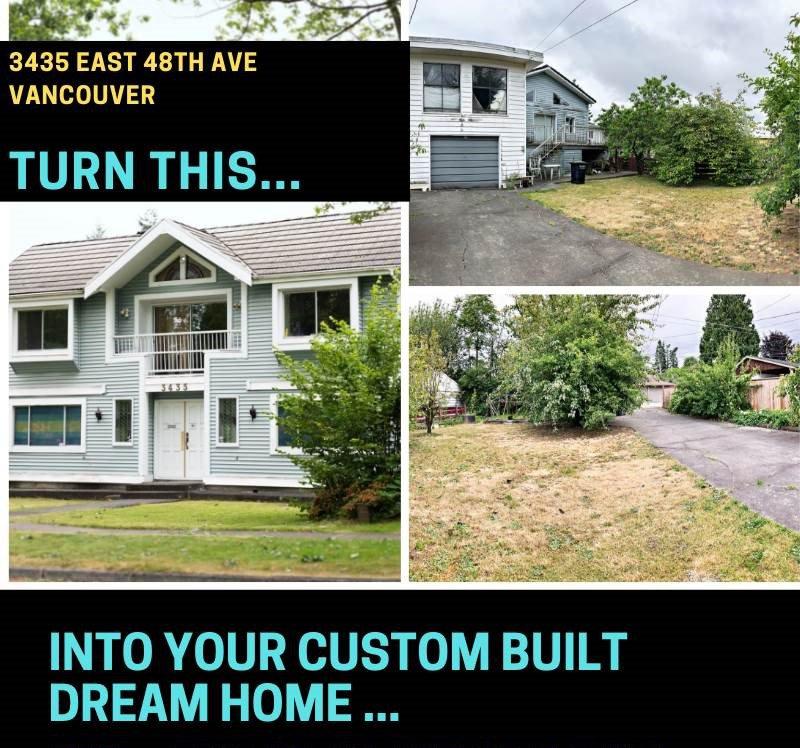 Main Photo: 3435 E 48 AVENUE in : Killarney VE Land for sale : MLS®# R2384743