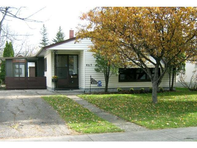 Main Photo: 463 OLIVE Street in WINNIPEG: St James Residential for sale (West Winnipeg)  : MLS®# 1021435