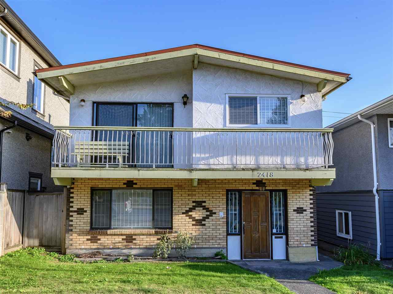 Main Photo: 2418 E 54TH Avenue in Vancouver: Fraserview VE House for sale (Vancouver East)  : MLS®# R2396451