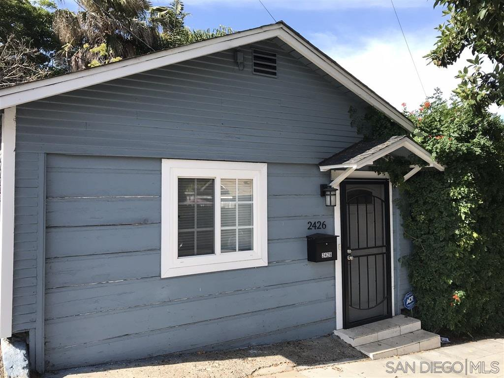 Main Photo: NORTH PARK House for rent : 2 bedrooms : 2426 Landis St in San Diego