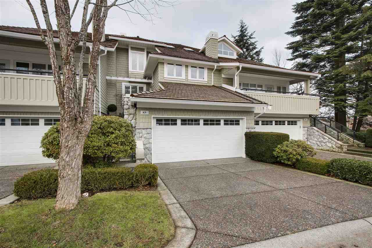 "Main Photo: 43 3355 MORGAN CREEK Way in Surrey: Morgan Creek Townhouse for sale in ""DEER RUN"" (South Surrey White Rock)  : MLS®# R2429083"