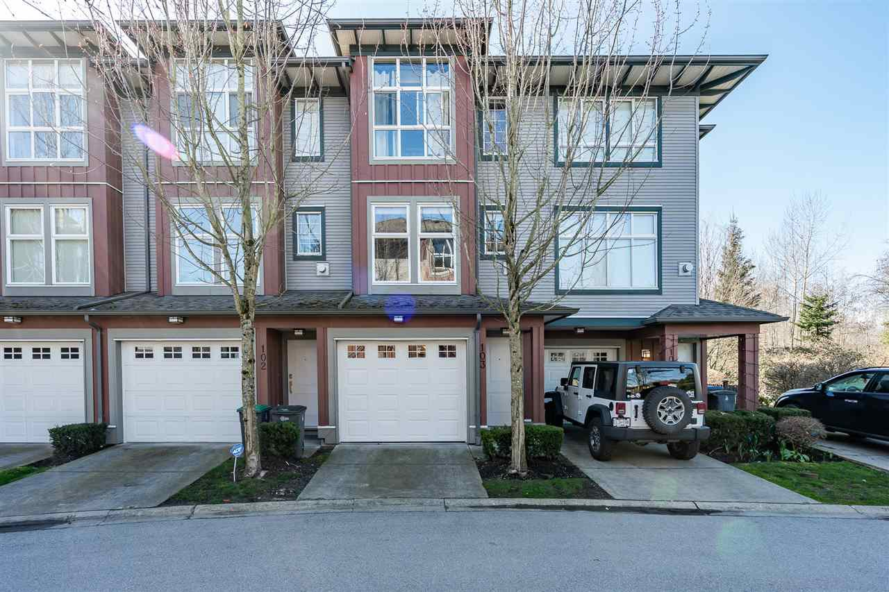"Main Photo: 103 18777 68A Avenue in Surrey: Clayton Townhouse for sale in ""Compass"" (Cloverdale)  : MLS®# R2444113"