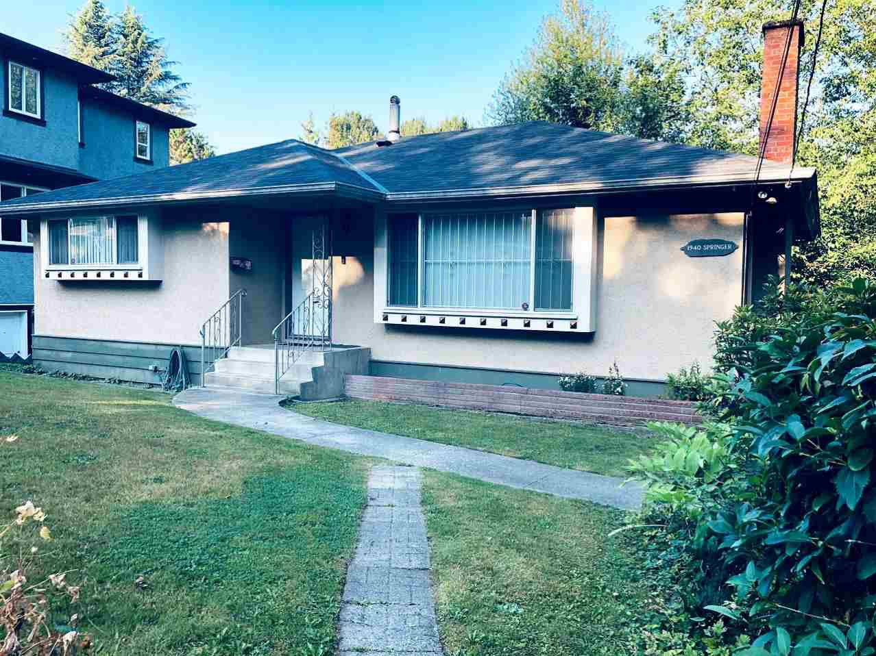 Main Photo: 1940 SPRINGER Avenue in Burnaby: Parkcrest House for sale (Burnaby North)  : MLS®# R2396163
