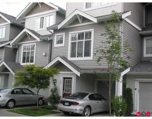 "Main Photo: 29 16760 61ST Avenue in Surrey: Cloverdale BC Townhouse for sale in ""HARVEST LANDING"" (Cloverdale)  : MLS®# F2832179"