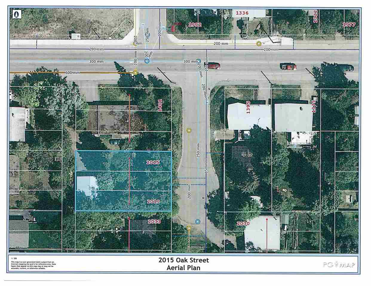 Main Photo: 2015 OAK Street in Prince George: VLA Land for sale (PG City Central (Zone 72))  : MLS®# R2465369