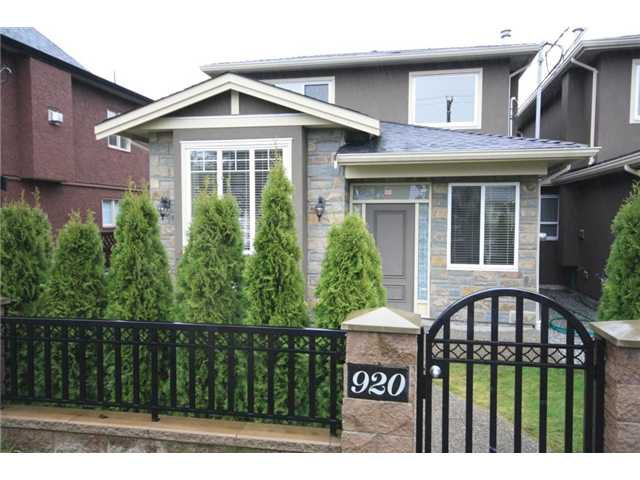 Main Photo: 920 SPERLING Avenue in Burnaby: Sperling-Duthie 1/2 Duplex for sale (Burnaby North)  : MLS®# V859901
