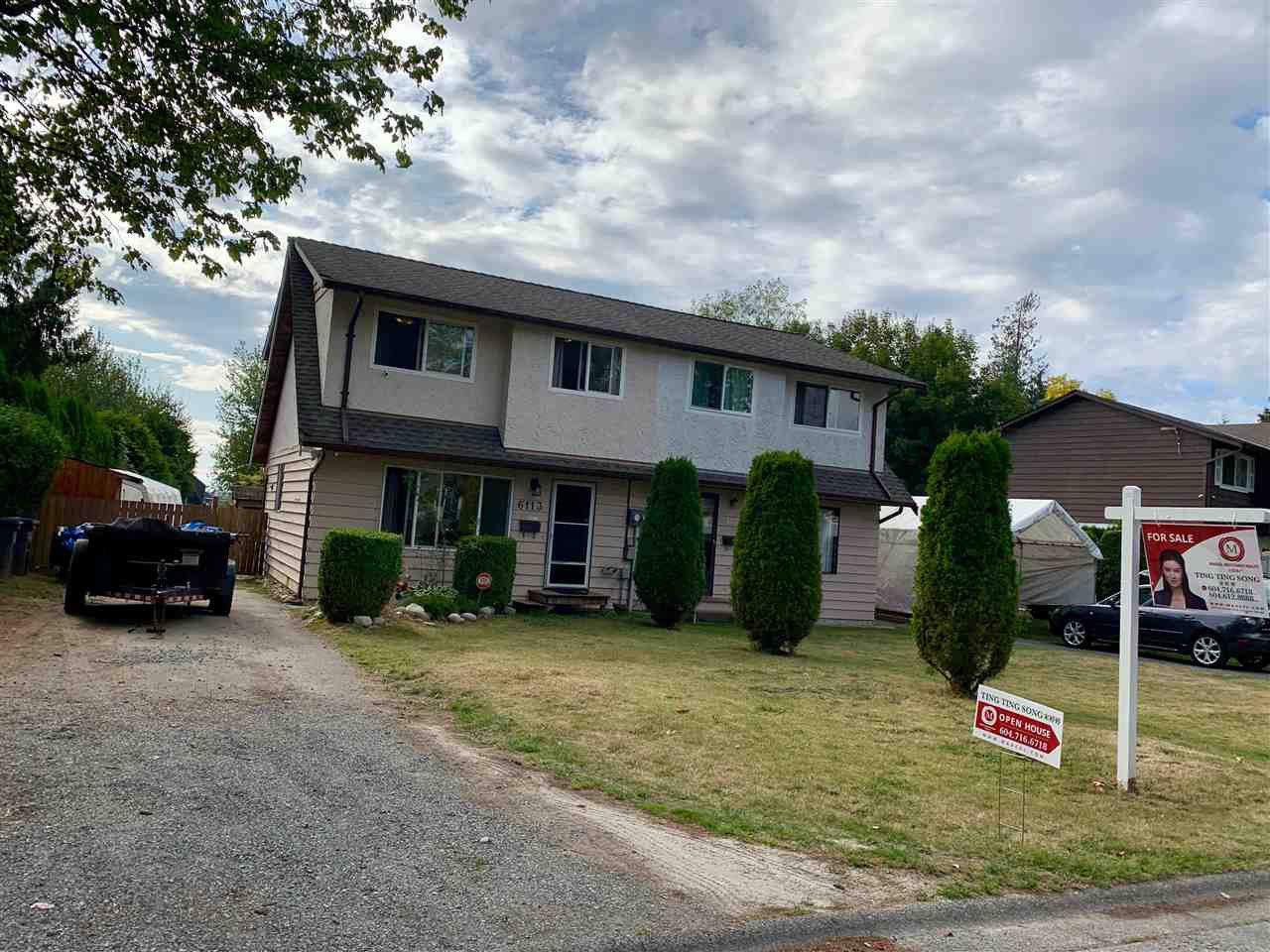 Main Photo: 6113 MORGAN Drive in Surrey: Cloverdale BC House 1/2 Duplex for sale (Cloverdale)  : MLS®# R2400124