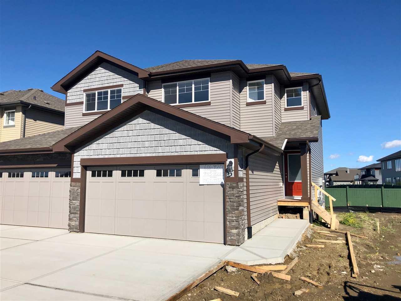 Main Photo: 9413 206A Street in Edmonton: Zone 58 House Half Duplex for sale : MLS®# E4211512