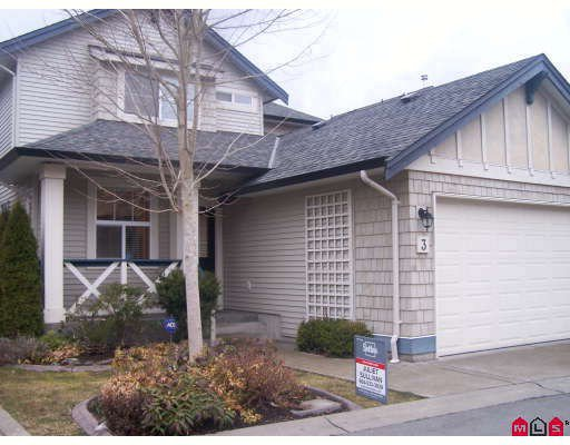 "Main Photo: 3 18868 69TH Avenue in Surrey: Clayton House for sale in ""CLAYTONBURY"" (Cloverdale)  : MLS®# F2905892"