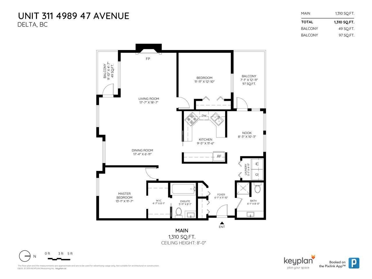 Photo 20: Photos: 311 4989 47 AVENUE in Delta: Ladner Elementary Condo for sale (Ladner)  : MLS®# R2421936
