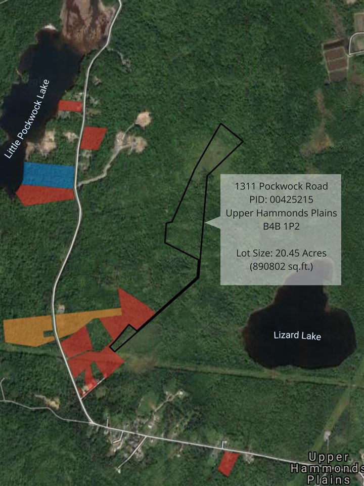 Main Photo: 1311 Pockwock Road in Upper Hammonds Plains: 21-Kingswood, Haliburton Hills, Hammonds Pl. Vacant Land for sale (Halifax-Dartmouth)  : MLS®# 202100281