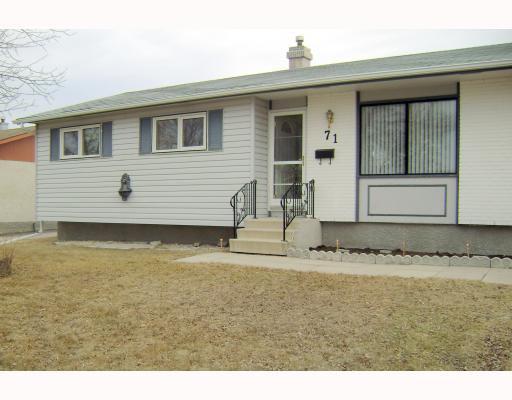 Main Photo: 71 HATCHER Road in WINNIPEG: Transcona Residential for sale (North East Winnipeg)  : MLS®# 2906170