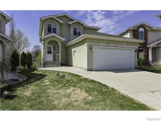Main Photo: 48 Demers Place in Winnipeg: Fort Garry / Whyte Ridge / St Norbert Residential for sale (South Winnipeg)  : MLS®# 1611766