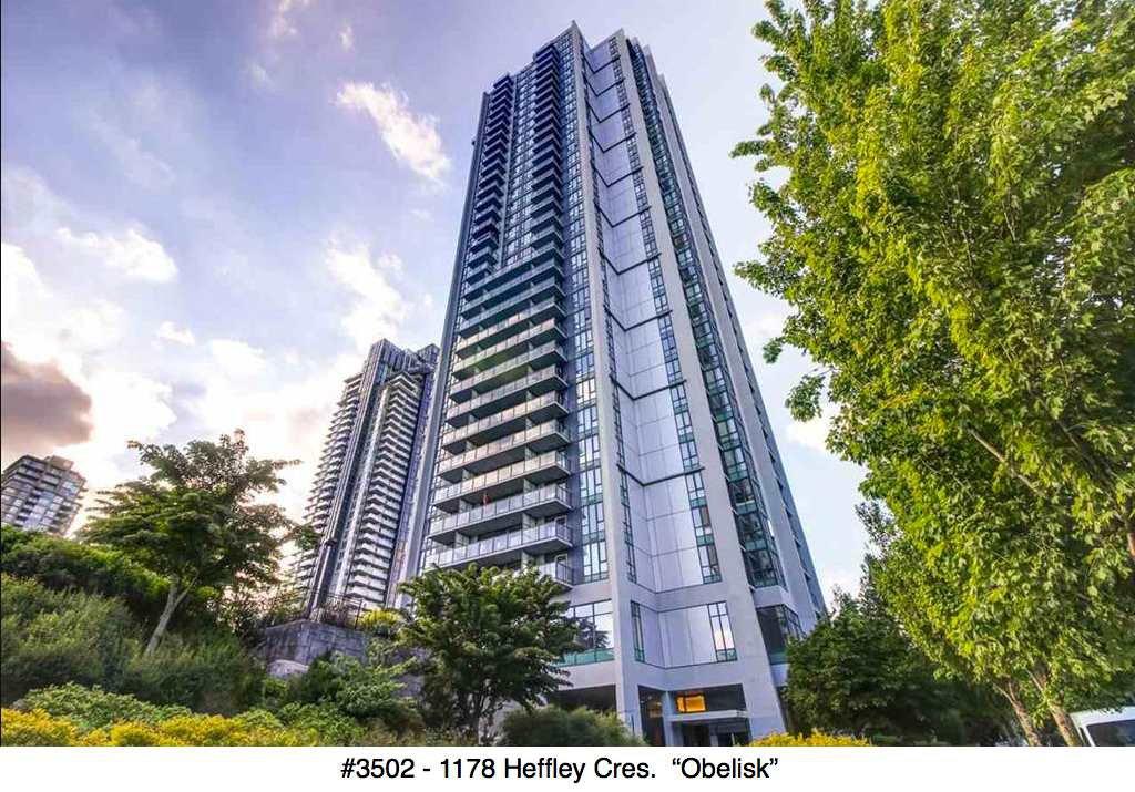"Main Photo: 3502 1178 HEFFLEY Crescent in Coquitlam: North Coquitlam Condo for sale in ""Obelisk"" : MLS®# R2195278"