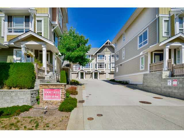 "Main Photo: 9 20159 68 Avenue in Langley: Willoughby Heights Townhouse for sale in ""VANTAGE"" : MLS®# F1449062"