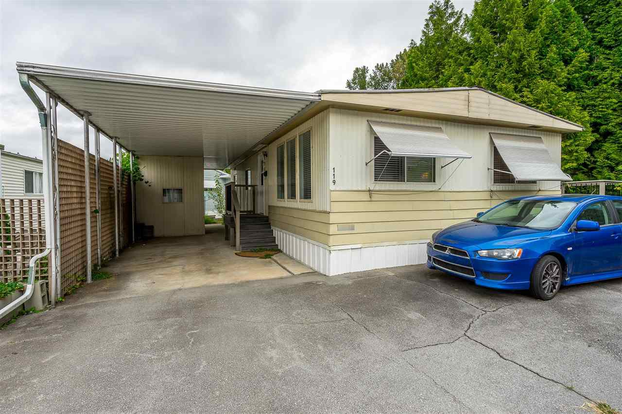 "Main Photo: 119 201 CAYER Street in Coquitlam: Maillardville Manufactured Home for sale in ""WILDWOOD PARK"" : MLS®# R2435330"