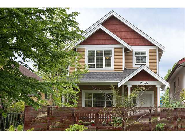 Main Photo: 2135 East 3rd Ave in Vancouver: Grandview VE House 1/2 Duplex for sale (Vancouver East)  : MLS®# v1008419