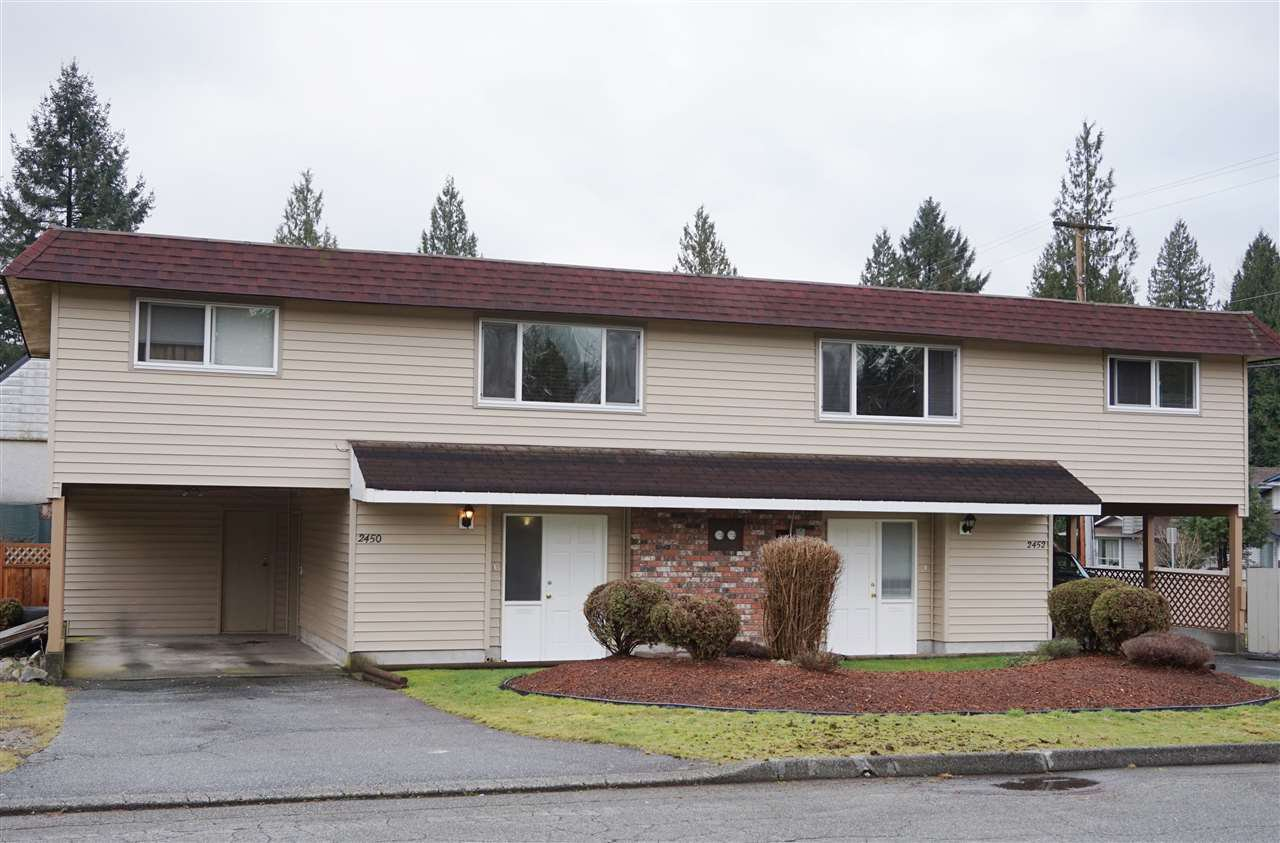 Main Photo: 2450 - 2452 PATRICIA Avenue in Port Coquitlam: Woodland Acres PQ House Duplex for sale : MLS®# R2030752