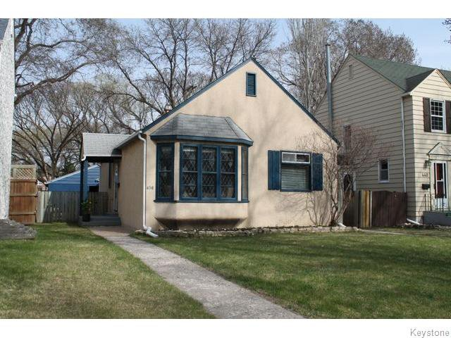 Main Photo: 436 Ash Street in Winnipeg: River Heights / Tuxedo / Linden Woods Residential for sale (South Winnipeg)  : MLS®# 1610900
