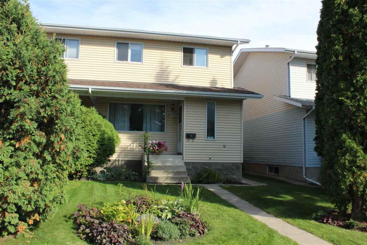 Main Photo: 10307 154 Street in Edmonton: Zone 21 House Half Duplex for sale : MLS®# E4174357