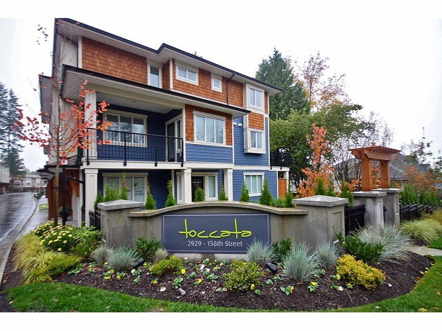 "Main Photo: 16 2929 156TH Street in Surrey: Grandview Surrey Townhouse for sale in ""TOCCATA"" (South Surrey White Rock)  : MLS®# F1405767"