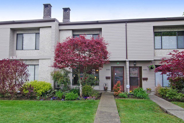 Main Photo: 3383 SEFTON Street in Port Coquitlam: Glenwood PQ Townhouse for sale : MLS®# R2055895