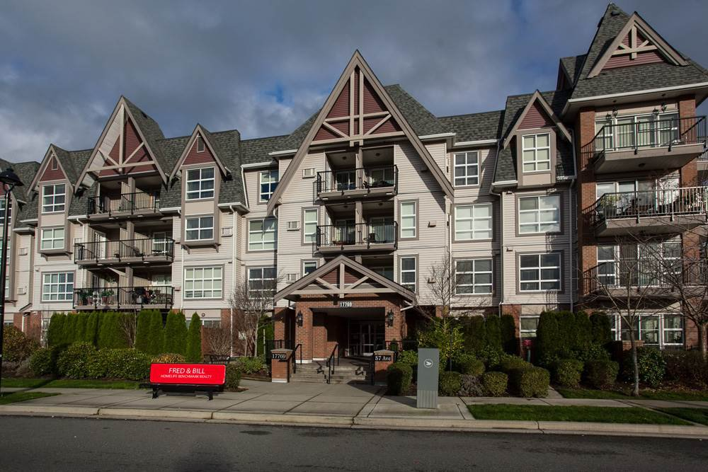 "Main Photo: 219 17769 57 Avenue in Surrey: Cloverdale BC Condo for sale in ""Clover Down Estates"" (Cloverdale)  : MLS®# R2123832"