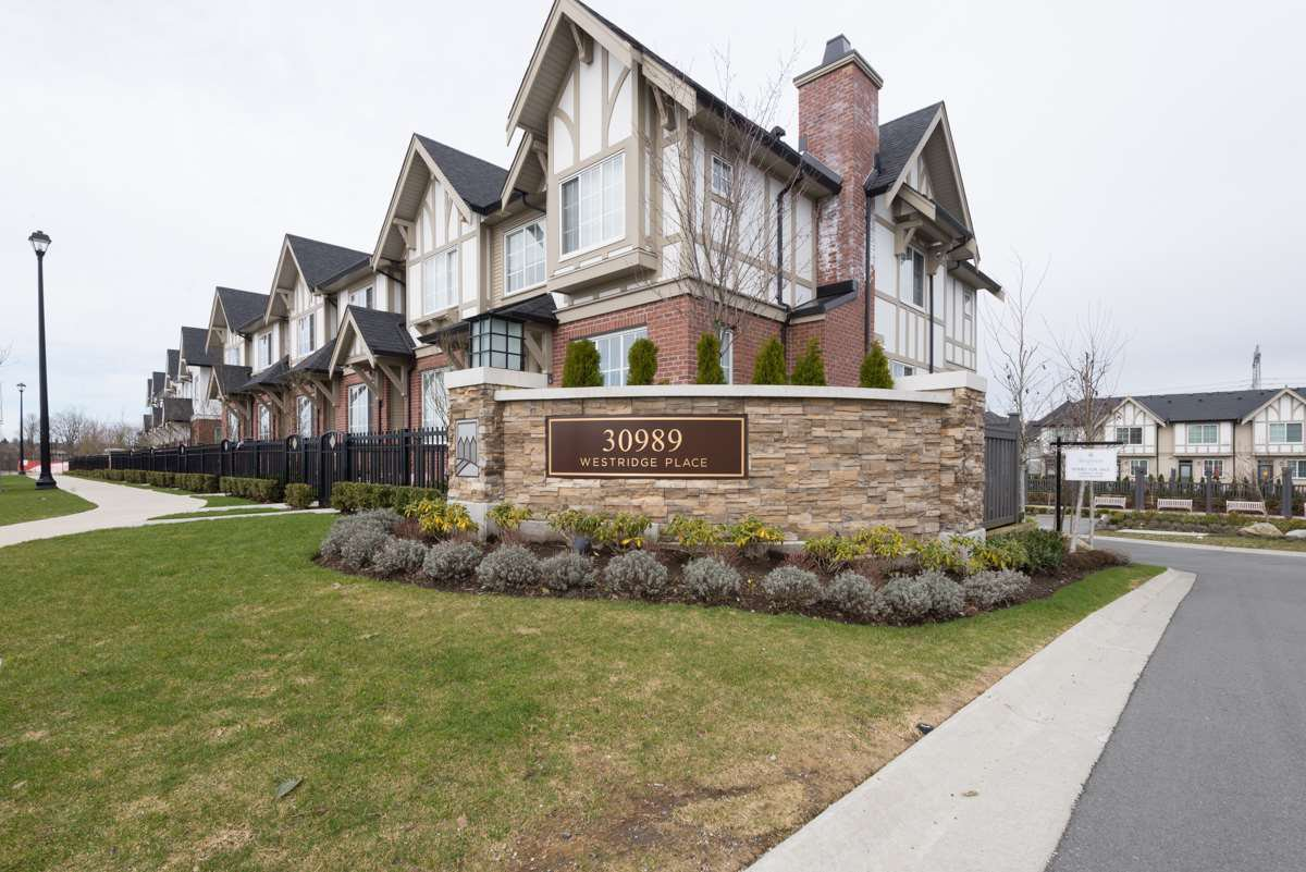 Main Photo: 54 30989 WESTRIDGE Place in Abbotsford: Abbotsford West Townhouse for sale : MLS®# R2147873