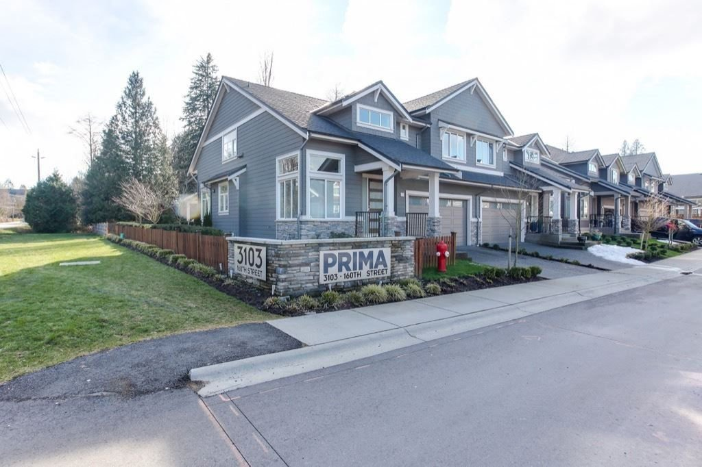 """Main Photo: 1 3103 160 Street in Surrey: Grandview Surrey Townhouse for sale in """"Prima"""" (South Surrey White Rock)  : MLS®# R2281582"""