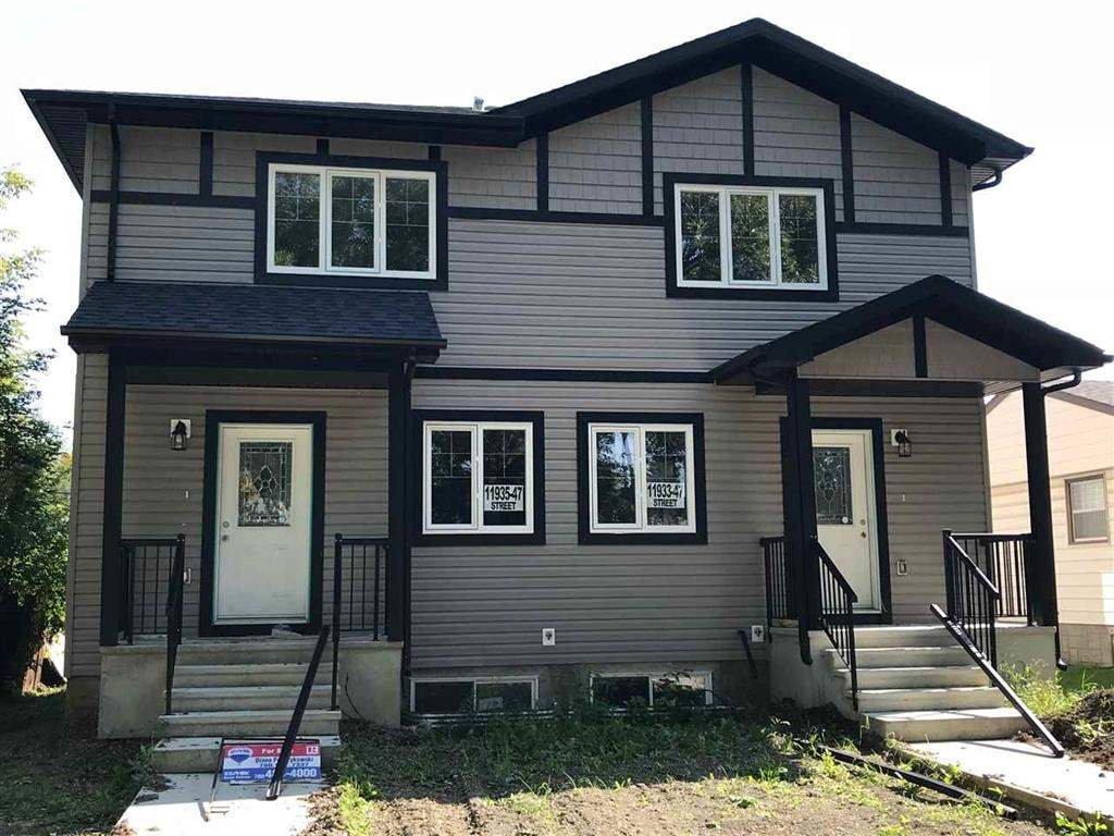 Main Photo: 11933 47 Street in Edmonton: Zone 23 House Half Duplex for sale : MLS®# E4150143
