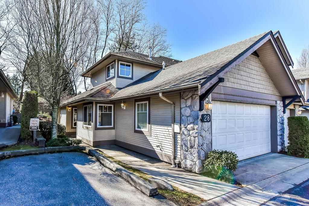 "Main Photo: 28 8888 151 Street in Surrey: Bear Creek Green Timbers Townhouse for sale in ""Carlington"" : MLS®# R2248167"