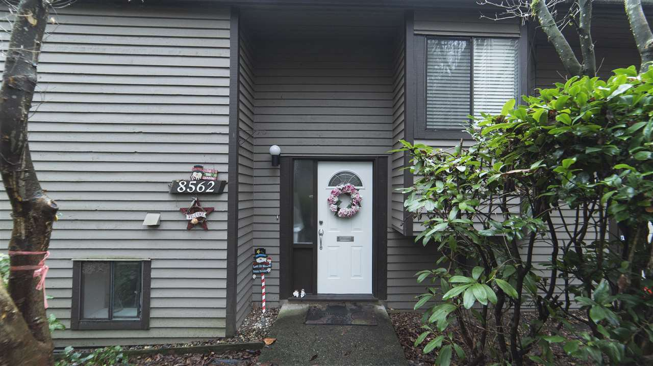 Main Photo: 8562 WILDERNESS Court in Burnaby: Forest Hills BN Townhouse for sale (Burnaby North)  : MLS®# R2328513