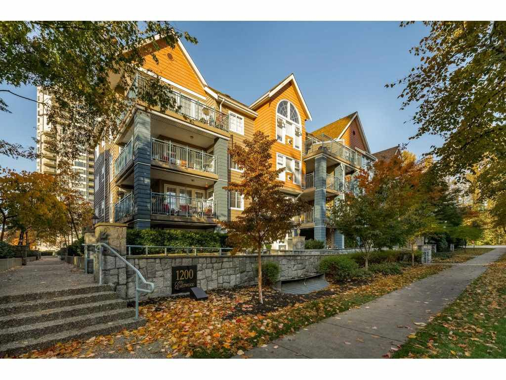 "Main Photo: 213 1200 EASTWOOD Street in Coquitlam: North Coquitlam Condo for sale in ""LAKESIDE TERRACE"" : MLS®# R2416247"