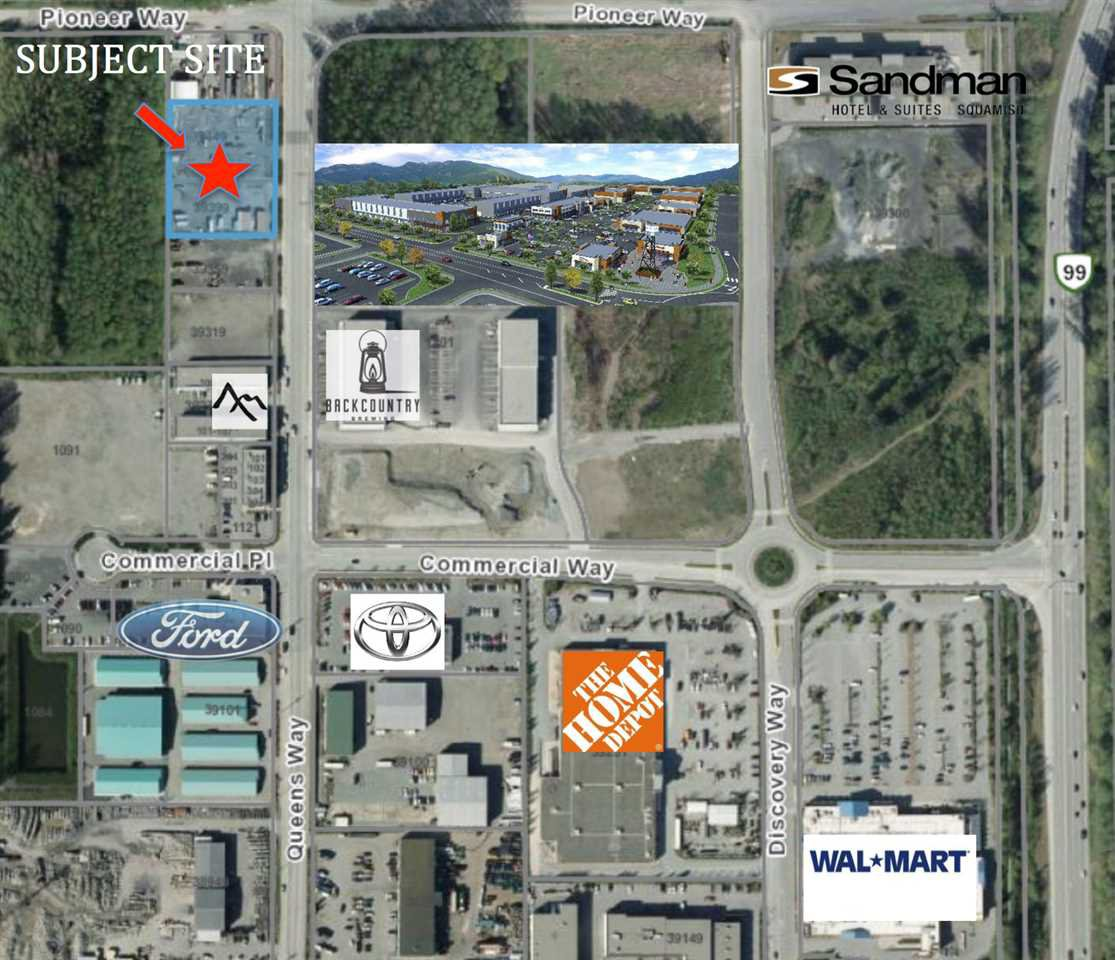 Main Photo: 39449 QUEENS Way in Squamish: Business Park Land Commercial for sale : MLS®# C8015215