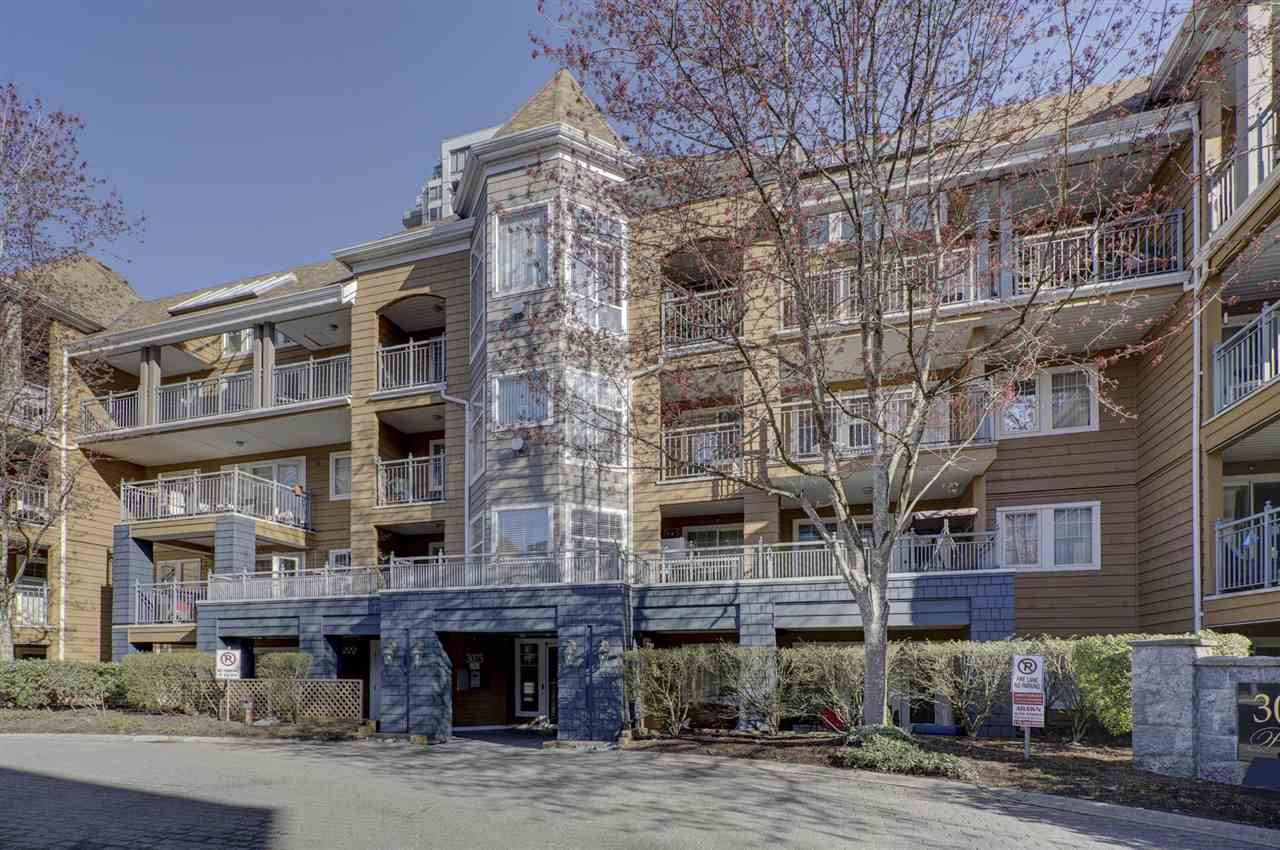 "Main Photo: 408 3075 PRIMROSE Lane in Coquitlam: North Coquitlam Condo for sale in ""LAKESIDE TERRACE"" : MLS®# R2353732"