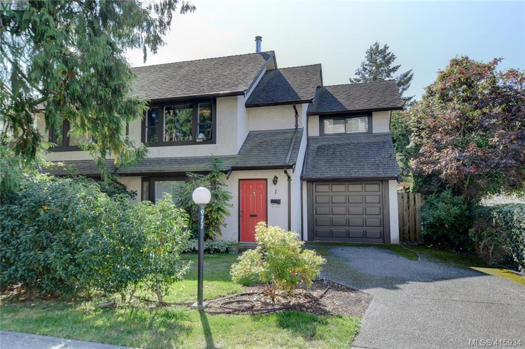 Main Photo: 1 977 Convent Place in VICTORIA: Vi Fairfield West Row/Townhouse for sale (Victoria)  : MLS®# 415934