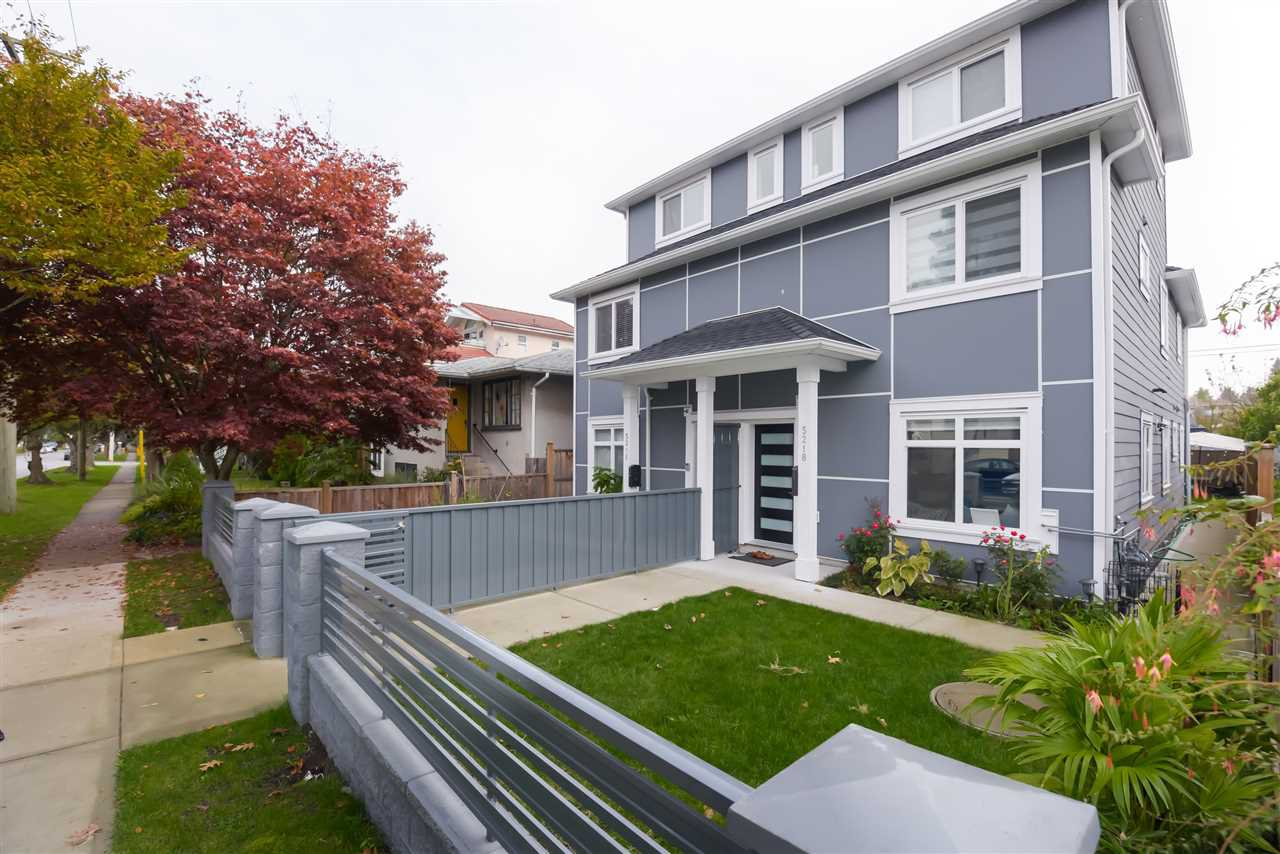 Main Photo: 5218 GLADSTONE Street in Vancouver: Victoria VE 1/2 Duplex for sale (Vancouver East)  : MLS®# R2514615