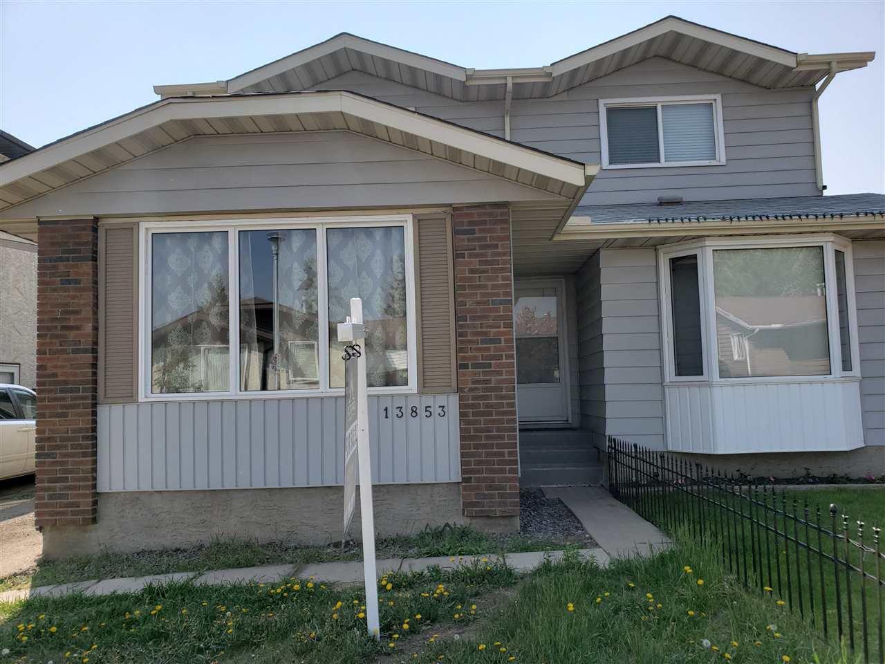 Main Photo: 13853 114 Street in Edmonton: Zone 27 House Half Duplex for sale : MLS®# E4156257