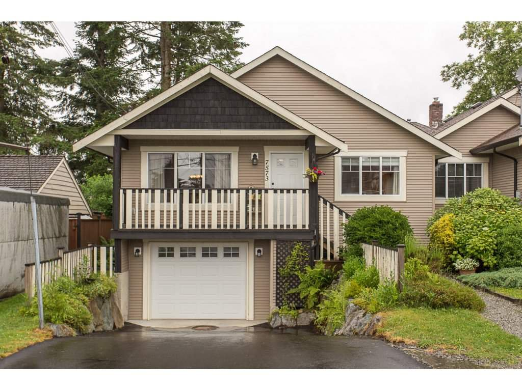 Main Photo: 7573 COLUMBIA Street in Mission: Mission BC 1/2 Duplex for sale : MLS®# R2175303