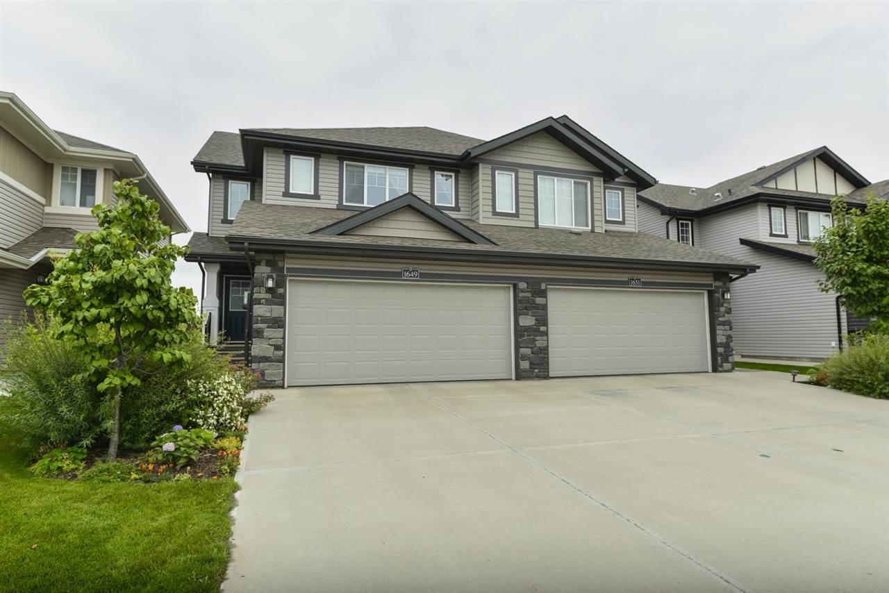 Main Photo: 1649 HAMMOND Crescent in Edmonton: Zone 58 House Half Duplex for sale : MLS®# E4169441